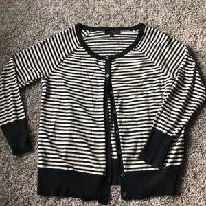 Lane Bryant xl gold shimmer striped cardigan